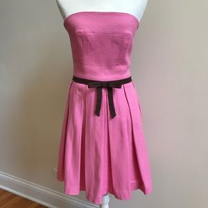 Adorable Pink and Brown Strapless Dress
